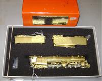Brass HO NW Class A Articulated with Aux Tener
