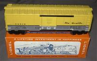 RARE Mint Lionel 6464-650 Yellow Roof Boxcar