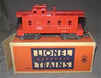 Scarce Boxed Lionel Red 2357 Caboose